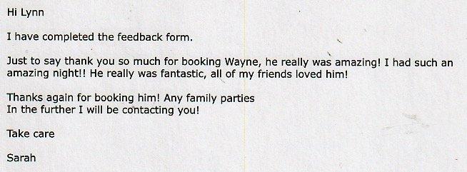 At a Wedding with DJ Wayne for Platinum DJs.
