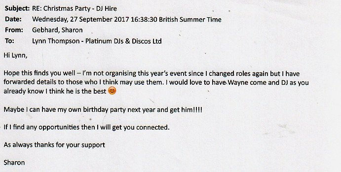 Early Christmas Party with DJ Wayne in London.