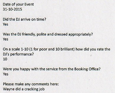 Wayne Smooth review for a 40th birthday party