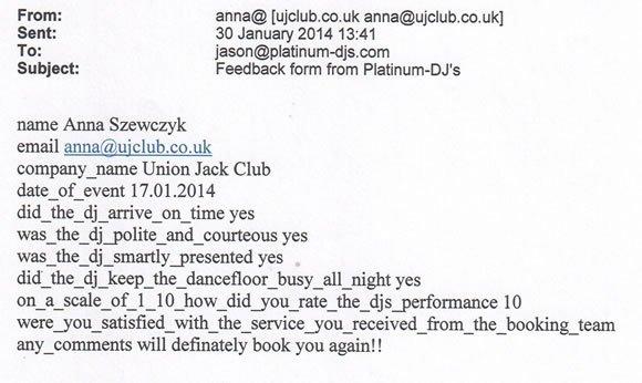 Staff Party DJ and Disco Hire London - DJ Wayne Smooth 140117