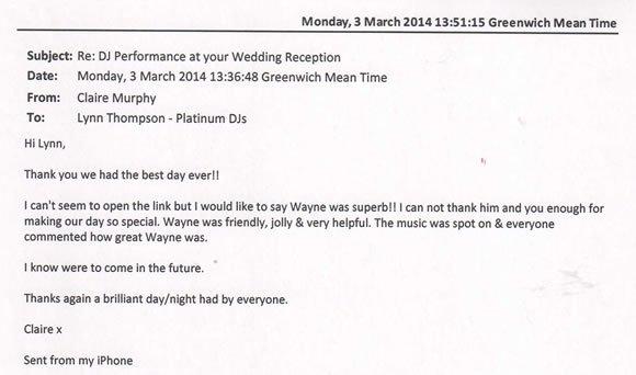 Wedding DJ Hire London - DJ Wayne Smooth 140301