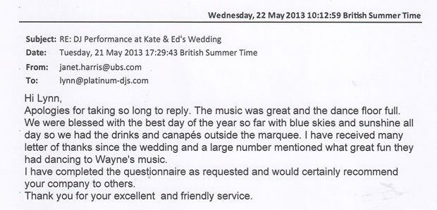Wedding DJ and Disco Ham House London Review - DJ Wayne Smooth