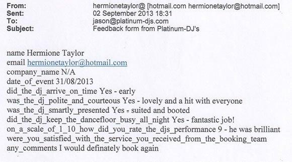 Wedding DJ and Disco Hire London - DJ Wayne Smooth 130831
