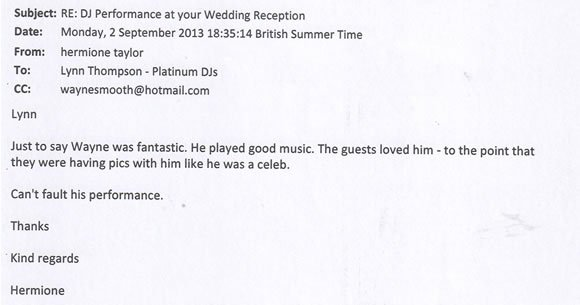 Wedding DJ and Disco Hire London - DJ Wayne Smooth 130902