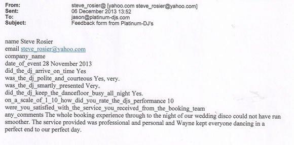 Wedding DJ and Disco Hire London - DJ Wayne Smooth 131128jpg