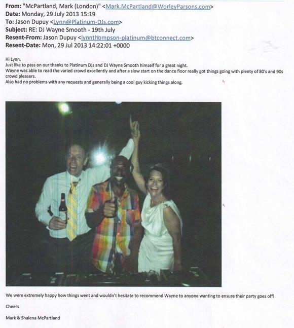 Wedding DJ and Disco Hire London - DJ Wayne Smooth 140729