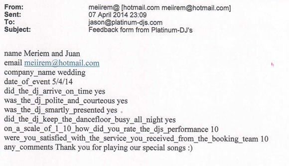 Wedding DJ and Disco Hire Troubadour London - DJ Wayne Smooth 140405