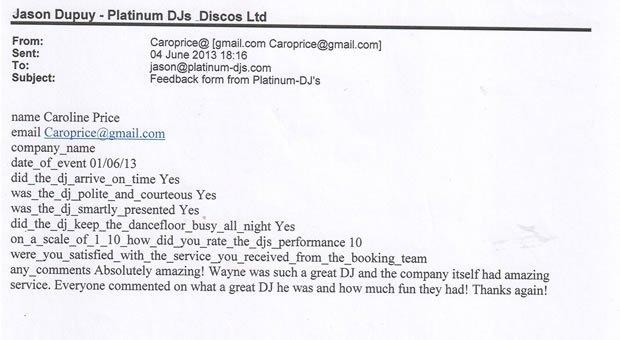 Wedding DJ and Disco London Review 130601 - DJ Wayne Smooth