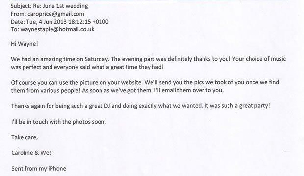 Wedding DJ and Disco London Review - DJ Wayne Smooth