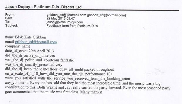 Wedding DJ and Disco London Westminster Review - DJ Wayne Smooth