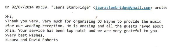 Wedding DJ and Wedding Disco Hire Winchester House Putney West London