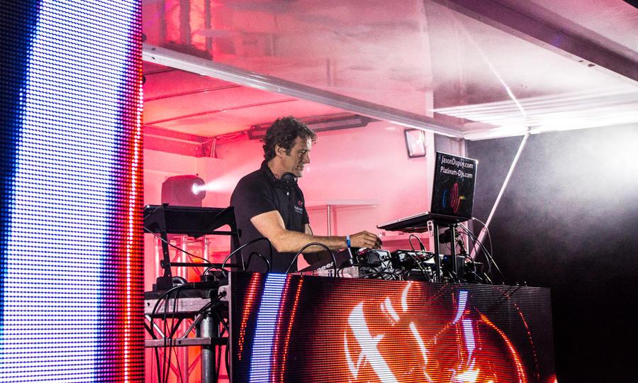 DJ hire Kent with DJ Jason Dupuy performing at Lloyd Festival.