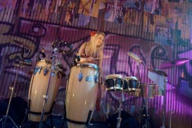 DJ Lyndsay is also a professional percussionist in London and Kent.