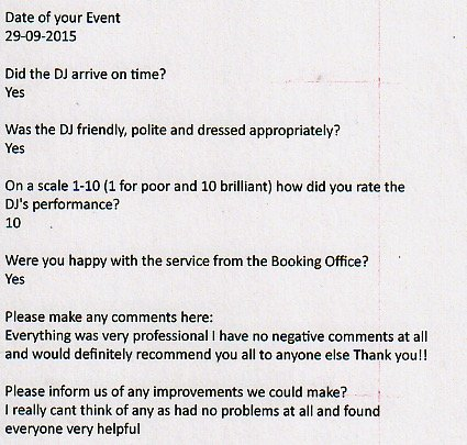 review Michael job august