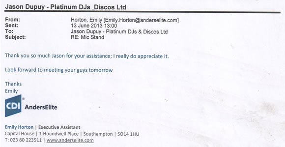 DJ Jason Dupuy - 130602 - Corporate Annual Awards Presentation London IOD