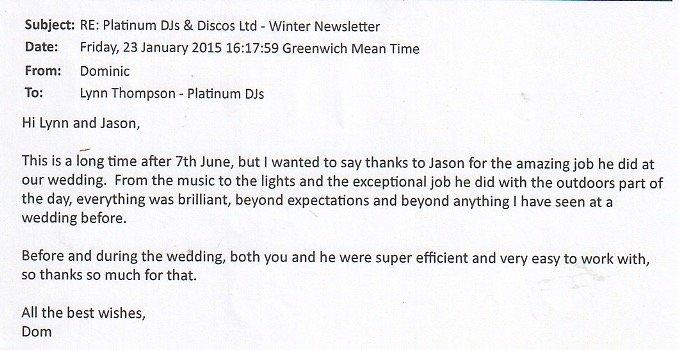 DJ Jason Dupuy Testimonial - Wedding in Greenwich