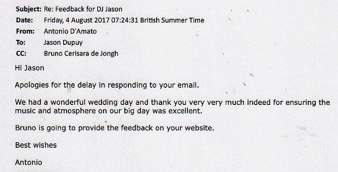 Best Wedding DJ Jason Dupuy performed at Trafalger Tavern.
