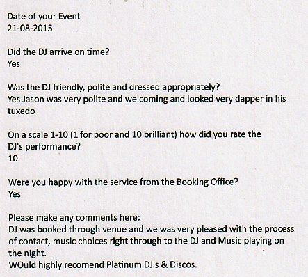 Review for DJ Jason Dupuy at the Tudor Park Mariot
