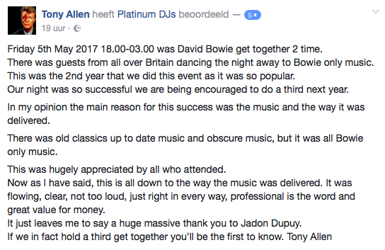 David Bowie get together with DJ Jason Dupuy