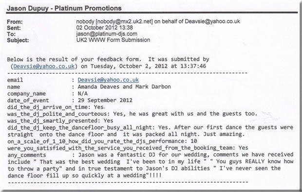 Wedding Disco DJ - Whitstable Kent - DJ Jason Dupuy 120929(2)