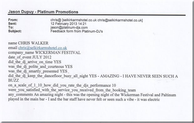 Wickerman Music Festival Scotland DJ Opening Party - DJ Jason Dupuy 120719