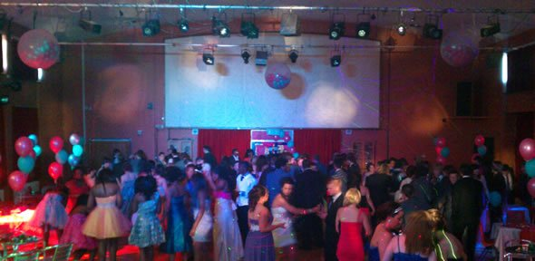 DJ Javier Lobez at a School Prom in Bedfordshire