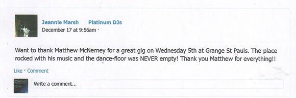 Christmas Party DJ and Disco Hire London DJ Matt McNerney 131217