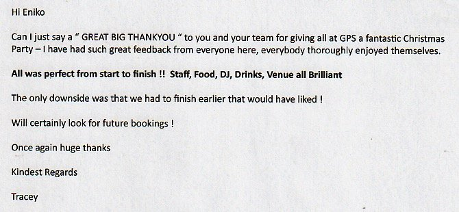 Christmas Party DJ Mark Rogers reviews.