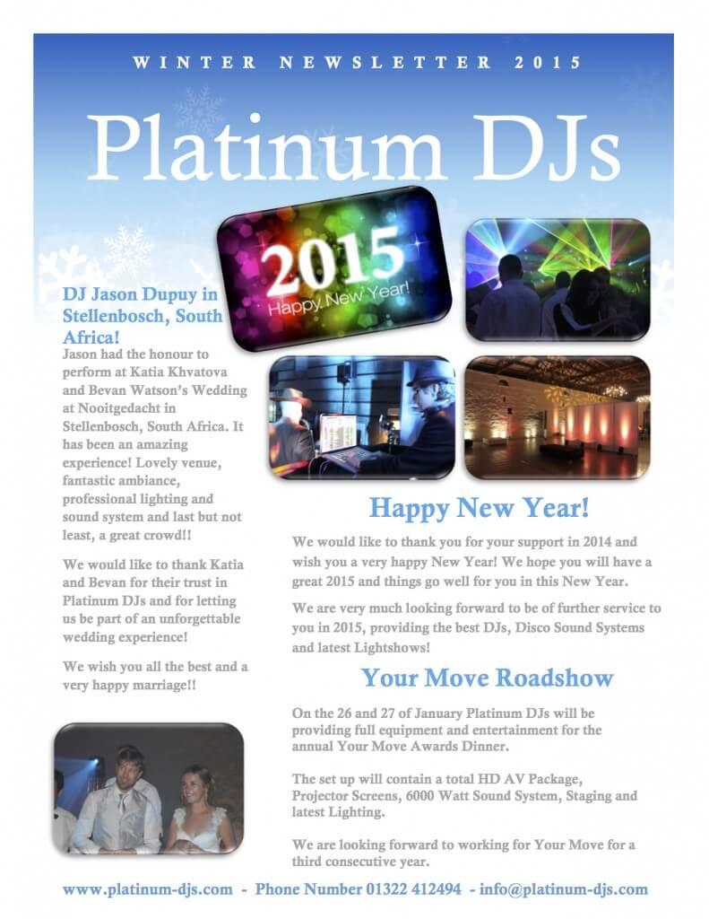 Blog DJs Discos - Winter newsletter for Platinum DJs