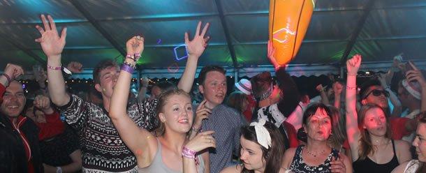 DJ Disco with Club DJ Jason Dupuy at the Wickerman Festival in Scotland
