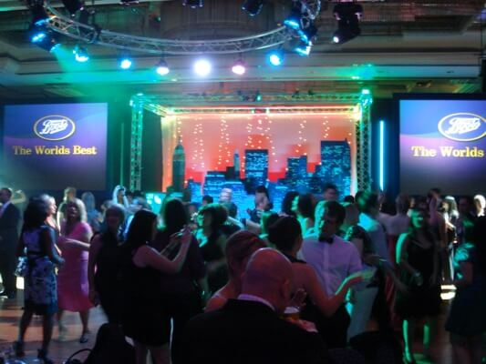 The annual Award Dinner for Boots with Corporate Event specialist Platinum DJs.