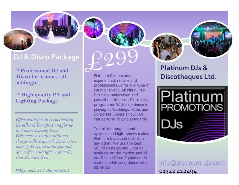 Professional Party DJ Disco offer for £299