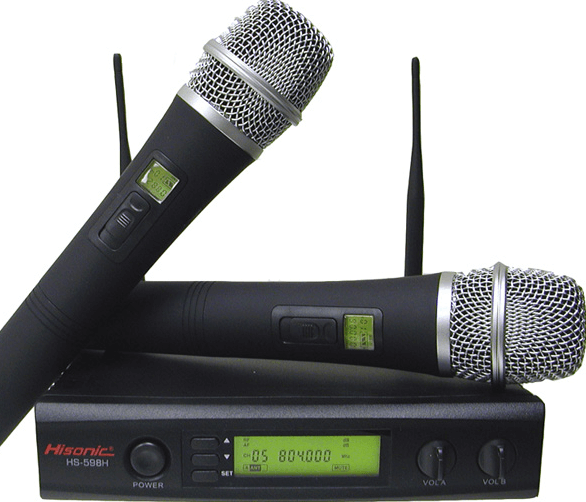 No more tripping over wires with the UHF cordless microphone