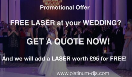 Wedding DJ Essex - Book your Wedding DJ now and get a FREE Laser added to your Booking.