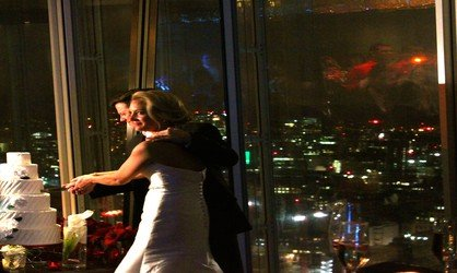 Wedding DJ in London with DJ Jason Dupuy and Jay on Drums at the Shangri-La on the Shard in London