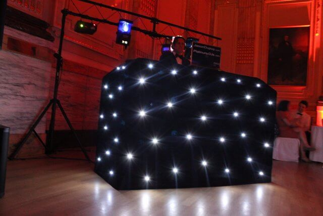 Very high quality LED star cloth DJ Booth