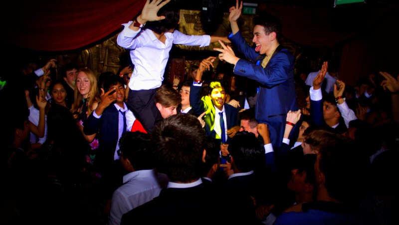 School Prom DJ hire services with Jason Dupuy performing at Gilgamesh restaurant in Camden.