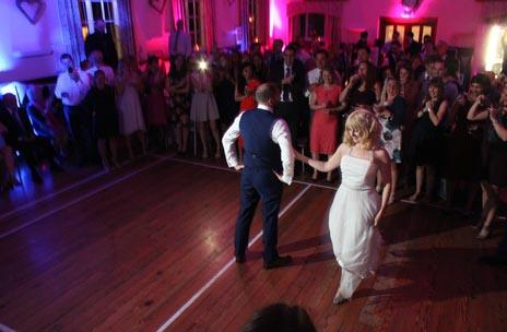 Wedding DJ Kent Jason Dupuy playing the first dance.