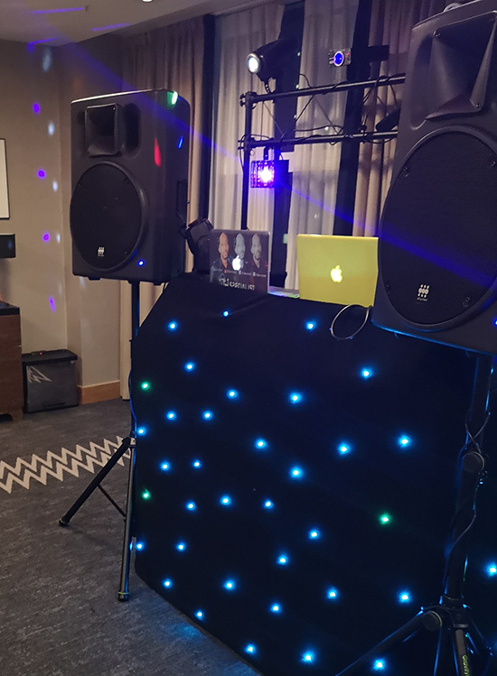 London DJ Specialist's set up for Parties & events